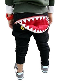 Boy's Fashion Casual Zipped Shark Teeth Haroun Pants