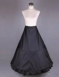 Slips Mermaid and Trumpet Gown Slip Chapel Train Tea-Length 1 Polyester Black