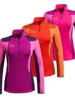 Trilha Jaquetas em Velocino / Lã / Blusas MulheresRespirável / Secagem Rápida / Zíper Frontal / Anti-Irradiação / A Prova de Vento /