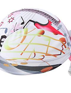 싸이클링 캡 모자 반다나 자전거 통기성 빠른 드라이 자외선 방지 안티 곤충 정전기 방지 박테리아 제한 초경량 패브릭 땀 흡수 기능성 소재 선크림 남녀 공용 화이트 100% 폴리에스터