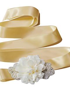 Sateng Bryllup / Fest/aften / Hverdag Sash-Perler / Blomster / Draperinger / Rhinstein Dame 98.5 tommer (ca. 250cm)Perler / Blomster /