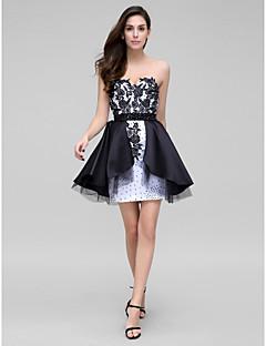 TS Couture Cocktail Party Dress - Multi-color Sheath/Column Sweetheart Short/Mini Satin