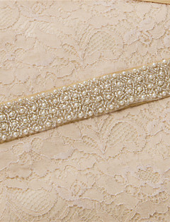 Satin Wedding / Party/ Evening / Dailywear Sash-Beading / Pearls / Crystal / Embroidery Women's 98 ½in(250cm)Beading / Pearls / Crystal /