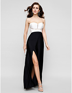 TS Couture® Formal Evening Dress - Multi-color Plus Sizes / Petite Sheath/Column Strapless Floor-length Satin Chiffon