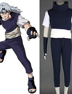 Inspirado por Naruto Kabuto Yakushi Animé Disfraces de cosplay Trajes Cosplay Retazos NegroChaleco / T-Shirt / Pantalones / Guantes /