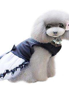 犬 ドレス 犬用ウェア ファッション クリスタル・ラインストーン ブラック