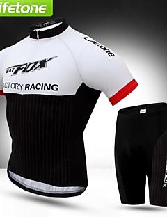 BATFOX® Cycling Jersey with Shorts Men's Short Sleeve Bike Breathable / Windproof / Ultraviolet Resistant / Anti-Eradiation / YKK Zipper