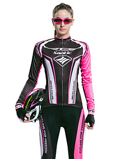SANTIC® Cycling Jersey with Tights Women's Long Sleeve BikeBreathable / Ultraviolet Resistant / Moisture Permeability / 3D Pad /