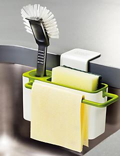 1 Cozinha Plástico Prateleiras e Suportes