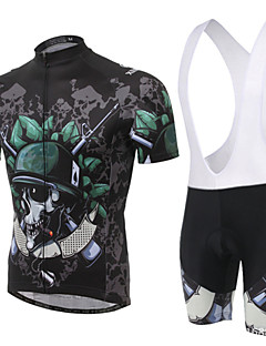 XINTOWN® Cycling Jersey with Bib Shorts Unisex Short Sleeve Bike Breathable / Quick Dry / Ultraviolet Resistant / 3D Pad / Limits Bacteria
