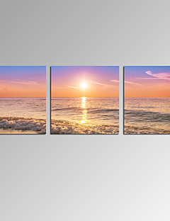 VISUAL STAR®3 Panel Beach Scenery Art Prints for Home Decor Stretched Wall Art Ready to Hang