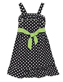 Girl's Black Dress,Dot Cotton Summer