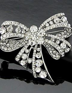 Damen Broschen Modisch nette Art Modeschmuck Krystall Schleifenform Schmuck Für Hochzeit Party Besondere Anlässe Geburtstag Alltag