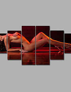 Sleeping Woman Nude Group High Quality Spray Oil Painting