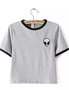 Womens Gray Leisure T-Shirt