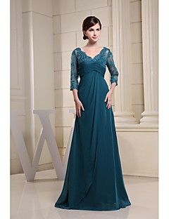 Lanting Ball Gown Mother of the Bride Dress - Ink Blue Floor-length Chiffon