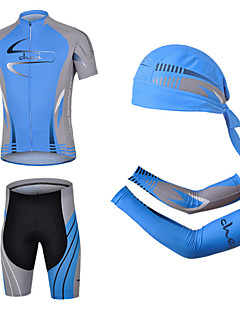 CHEJI® Cycling Jersey with Shorts Men's Short Sleeve Bike Breathable / Quick Dry / Ultraviolet Resistant / 3D Pad / Limits BacteriaShorts