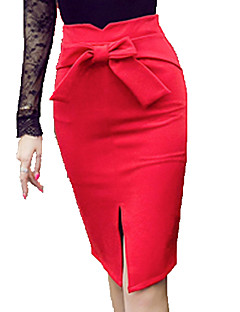 Women's Fashion Bowknot Korean Style All Matches Sexy Package Skirts