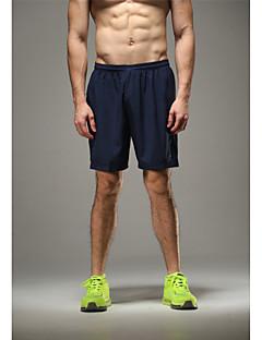 Corrida Shorts / Fundos Homens Respirável / Alta Respirabilidade (>15,001g) / Secagem Rápida / Tecido Ultra Leve / Redutor de SuorIoga /