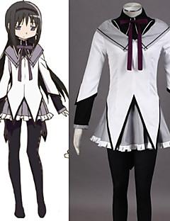 Anime Puella Magi Madoka Magica Homura Cosplay  Costume Hag Dresses