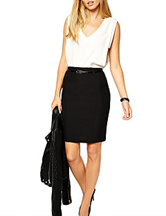 Europe Sexy Women Mini OL Skirt Solid Color Zipper Closure Bodycon Casual A-Line Skirts