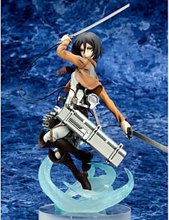 Attack on Titan Mikasa Ackermann PVC One Size Anime Action Figures Model Toys Doll Toy 1pc25cm