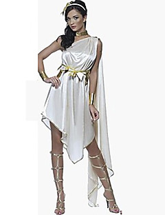 תחפושות קוספליי תחפושת למסיבה אגדה אֵלָה תחפושות מצריות פסטיבל/חג תחפושות ליל כל הקדושים לבן אחיד שמלה לבוש ראשהאלווין (ליל כל הקדושים)