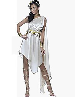 Cosplay Kostýmy Kostým na Večírek Pohádkové Bohyně Egyptian Costumes Festival/Svátek Halloweenské kostýmy Bílá JednobarevnéŠaty Doplňky