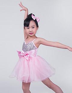 Roupas de Dança para Crianças Vestidos Crianças Actuação Náilon Chinês / Poliéster / Lantejoulas / Tule / LicraArco(s) / Paetês /