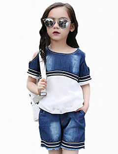שורטים / ג'ינס יום יומי\קז'ואל כותנה קיץ כחול הילדה של