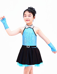 Jazz Dance Dancewear Adults' Children's Sequin Jazz Dress Kids Dance Costumes