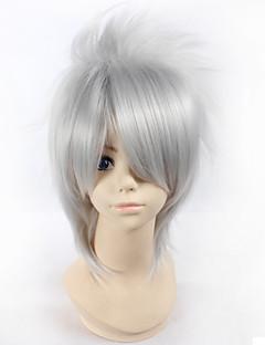 Cosplay Wigs Naruto Hatake Kakashi Silver Short Anime Cosplay Wigs 28 CM Heat Resistant Fiber Male