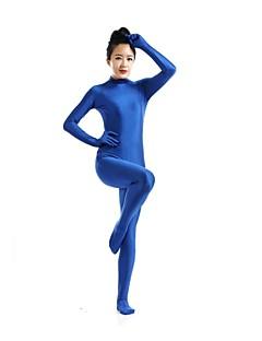 חליפות Zenta Ninja Zentai תחפושות קוספליי כחול אחיד /סרבל תינוקותבגד גוף / Zentai לייקרה / ספנדקס יוניסקסהאלווין (ליל כל הקדושים) / חג