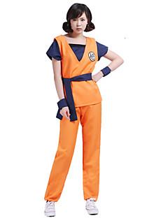 Inspirado por Dragon ball Son Goku Anime Fantasias de Cosplay Ternos de Cosplay Estampado Laranja Top / Calças / Cinto