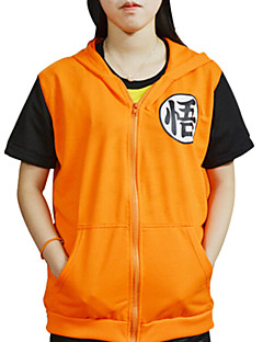 Inspired by Dragon Ball Son Goku Anime Cosplay Costumes Cosplay T-shirt Print Yellow Short Sleeve Coat