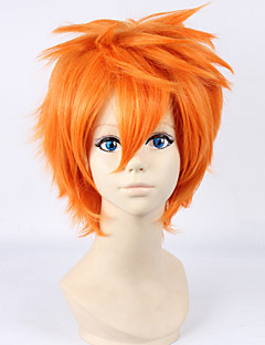Haikyuu Hinata Syouyou 30cm Short Straight Orange Color Men's Anime Cosplay Full Wig