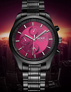 Men's Japanese Analog Quartz Black Steel Band Water Resistant Dress Watch Jewelry Cool Watch Unique Watch