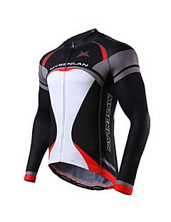 MYSENLAN® Camisa para Ciclismo Homens Manga Comprida Moto Respirável / Materiais Leves Camisa/Fietsshirt / Blusas Poliéster / Terylene