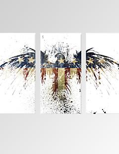 Natura morta / Moderno / Romantico / Pop art / Animali / Tempo libero / Botanical Print Canvas Tre Pannelli Pronto da appendere,Verticale