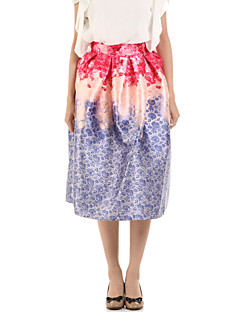 Boutique G Women's Floral Purple Skirts,Cute Knee-length
