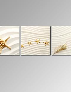 Beroemd / Landschap / Vaderlandslievend / Modern / Romantisch Canvas Afdrukken Drie panelen Klaar te hangen,Horizontaal
