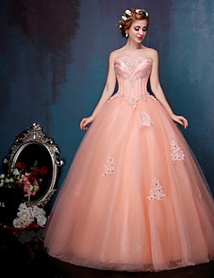 Princess Wedding Dress Wedding Dresses in Color Floor-length Sweetheart Crepe / Lace / Tulle withRuffle / Appliques / Beading /