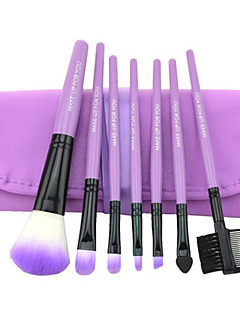 7PCS Professional Wood Handle Makeup Cosmetic Brushes Set For Face Make Up (4 Color Choose)