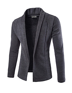 Men's Solid Cardigan,Cotton Long Sleeve