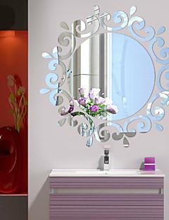 Botánico / Romance / Espejos / De moda / Florales / Formas / Cosecha / 3D Pegatinas de pared Calcomanías 3D para Pared,Acrylic crystal