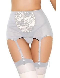 Jarretelles & Bretelles Vêtement de nuit Femme,Sexy Polyester Spandex Blanc Rouge