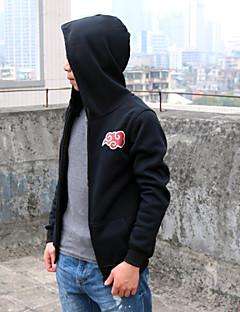 Inspired by Naruto Akatsuki Anime Cosplay Costumes Cosplay Hoodies Print Black Long Sleeve Top / More Accessories