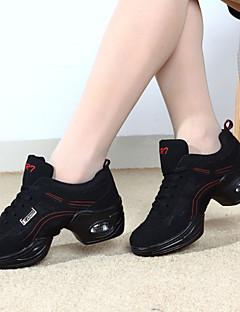 Scarpe da ballo-Non personalizzabile-Da donna-Sneakers da danza moderna-Basso-Raso / Tessuto-Viola / Rosso / Dorato
