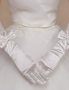 Elbow Length Fingertips Glove Satin / Lace Bridal Gloves / Party/ Evening Gloves