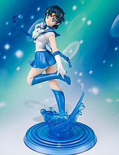 Sailor Moon Sailor Mercury 19CM アニメのアクションフィギュア モデルのおもちゃ 人形玩具